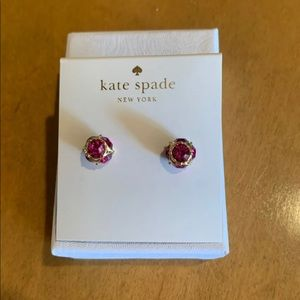 Kate Spade pink gumdrop stud earrings.